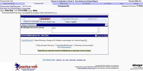 electronic prescription practice web