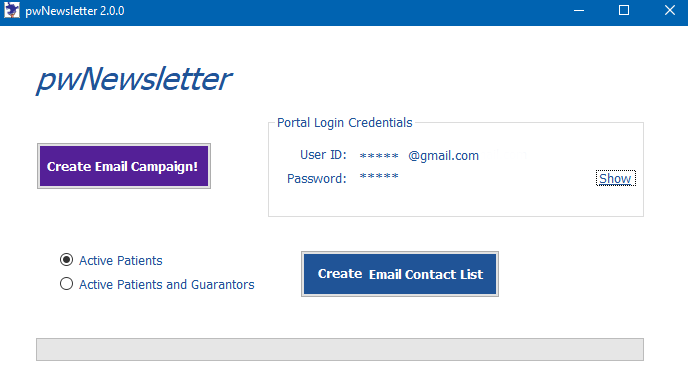 Create Email Contact List Screen